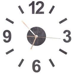 Drewniany zegar na ścianę ze złotymi wskazówkami marki Congee.pl