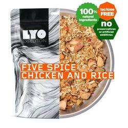 Kurczak pięciu smaków z ryżem 500g.