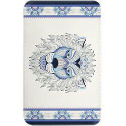 """Bonprix Dywaniki łazienkowe """"lew"""", pianka memory niebieski"""