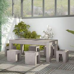 7-częściowy zestaw jadalniany ogrodowy, beton marki Vidaxl