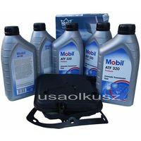 Półsyntetyczny olej  atf320 oraz filtr oleju skrzyni biegów 4-spd dodge nitro 3,7 marki Mobil