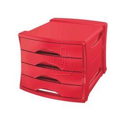 Pojemnik z 4 szufladami ESSELTE Europost VIVIDA czerwony, ES584-3
