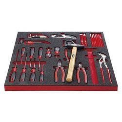 Zestaw narzędzi essential, zestaw narzędzi combi, we wkładce z twardej pianki, s marki Vigor