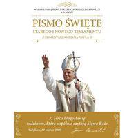 Pismo Święte Starego i Nowego Testamentu z komentarzami Jana Pawła II, oprawa twarda
