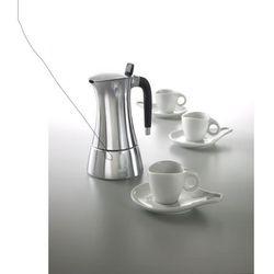 - milla zestaw - kawiarka 3cup + 3 filizanki do kawy ze spodkami, marki Casa bugatti