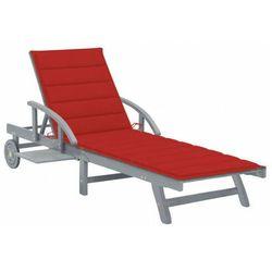 Czerwony leżak ogrodowy - Solar