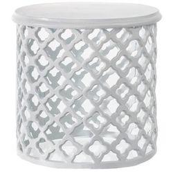 Dekoria  stolik marocco white wys.38cm, 39x39x38cm