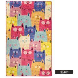 Selsey dywan do pokoju dziecięcego dinkley koty kolorowy 100x160 cm