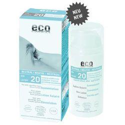 Eco cosmetics  – emulsja na słońce faktor spf20 neutral 100ml, kategoria: pozostałe kosmetyki do opalania