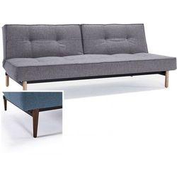 sofa splitback szarobeżowa 521 nogi ciemne drewno - 741010521-741007-10-3-2, marki Innovation istyle