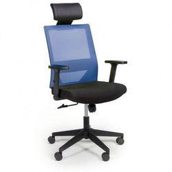 B2b partner Krzesło biurowe wolf, regulowane podłokietniki, plastikowy krzyżak, niebieskie
