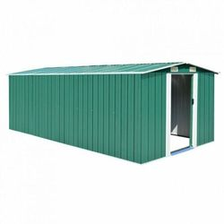 szopa ogrodowa, 257 x 497 x 178 cm, metal, zielona marki Vidaxl