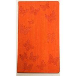 Kalendarz kieszonkowy A6. Motyle. Pomarańczowy - produkt z kategorii- Kalendarze