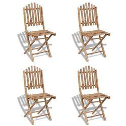 vidaXL 4 składane krzesła bambusowe - sprawdź w wybranym sklepie