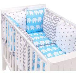 Mamo-tato 14-el pościel do łóżeczka z ochraniaczem modułowym - zestaw 15