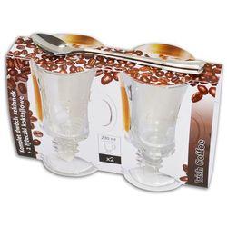 Komplet szklanek IRISH COFFEE i łyżeczki koktajlowe 2szt