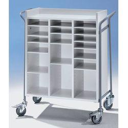 Wózek biurowy, na pocztę, nośność 150 kg, dł. x szer. x wys. 950x455x1015 mm. No
