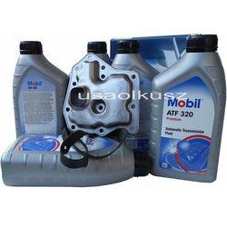 Filtr oraz olej  atf-320 automatycznej skrzyni biegów nissan quest wyprodukowany przez Mobil