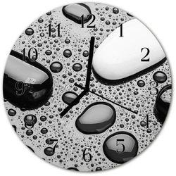 Zegar ścienny okrągły Kamienie