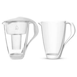 Dafi crystal led sensor dzbanek filtrujący szklany 2,0 l + wkład biały + karafka gratis - darmowa dostawa od 95 zł!