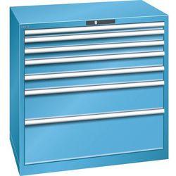 Szafa z szufladami, blacha stalowa, wys.x szer. 1000x1023 mm, 7 szuflad, nośność
