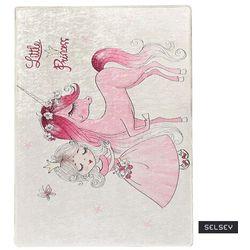 dywan do pokoju dziecięcego dinkley księżniczka 140x190 cm marki Selsey
