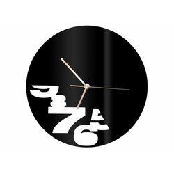 Zegar z pleksi na ścianę abstrakcja ze złotymi wskazówkami marki Congee.pl