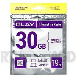Play Internet na kartę 19PLN - produkt w magazynie - szybka wysyłka! - produkt z kategorii- Zestawy startowe