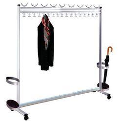 Szeregowy stojak na ubrania, wys. x gł. 1700 x 400 mm,ze stojakiem na parasole marki Kerkmann