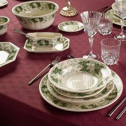 La cartuja de sevilla Pickman serwis obiadowy ochavada yedra 42 elementy dla 12 osób