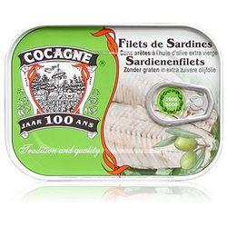 Portugalskie filety z sardynek w oliwie 105g Cocagne - produkt z kategorii- Konserwy i przetwory rybne