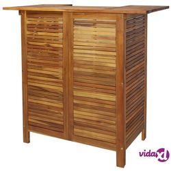 Vidaxl stolik barowy z litego drewna akacjowego, 110 x 50 x 105 cm