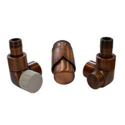Instal-projekt Grzejnik  603700050 zestawy łazienkowe lux gz ½ x złączka 16x2 pex osiowo prawy antyczna miedź