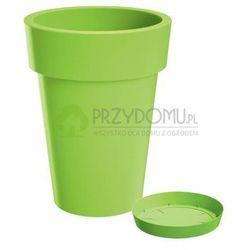 Doniczka LOFLY SLIM DLOFS400 + podstawek limonka - produkt z kategorii- Doniczki i podstawki