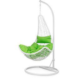 Fotel ogrodowy wiszący Cabana biały-zielony SOFOTEL