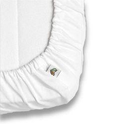 Prześcieradło do łóżeczka NANAF ORGANIC, Do spania i kąpania, białe 60x120 cm - Biały