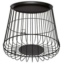 Metalowy stolik kawowy RONI - Ø 52 cm, kolor czarny
