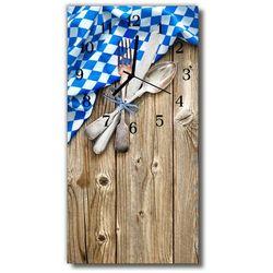 Zegar szklany pionowy kuchnia drewno kuchnia kolorowy marki Tulup.pl