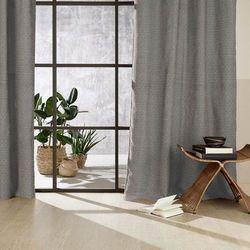Atmosphera créateur d'intérieur Stylowa zasłona chenil, szara z wzorem, wykonana z bawełny, wiskozy oraz poliestru, wymiary 260 x 140 cm, do wszystkich pomieszczeń (3560239693239)