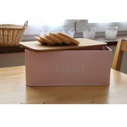 Chlebak z Bambusową deską, pokrywką HIT. Różowy.