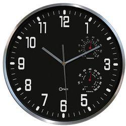 Zegar ścienny CEP Thermo-hygro, 30cm, czarny, kolor czarny