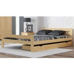 Łóżko drewniane manta 90x200 eko z materacem piankowym megana marki Meble magnat
