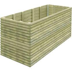 Skrzynia ogrodowa z impregnowanego drewna, 197x106x96 cm marki Vidaxl
