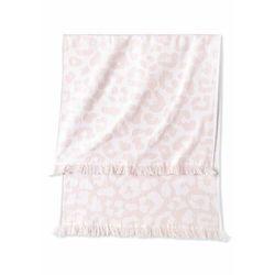 Ręczniki w animalistyczny deseń (2 szt.) dymny różowy marki Bonprix