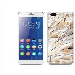 Foto Case - Huawei Honor 6 Plus - etui na telefon Foto Case - białe pióra z kategorii Futerały i pokrowce d