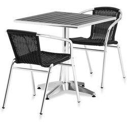 Zestaw – prostokątny stół kawiarniany + 2 krzesła