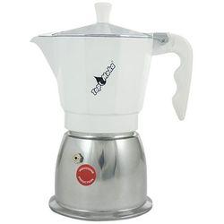Kawiarka na indukcję Top Moka Top 6 filiżanek - Srebrno biała
