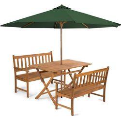Fieldmann meble ogrodowe EMILY 4L2 + parasol zielony