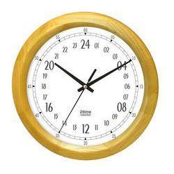 Zegar 24-godzinny drewniany