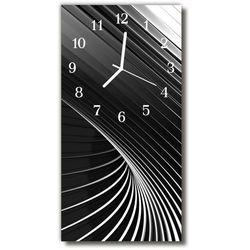 Zegar szklany pionowy sztuka abstrakcja czarno-biały marki Tulup.pl